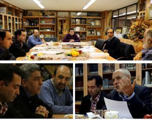 نشست اعضای شورای سیاستگذاری جشنواره فیلم کوتاه مهر سلامت با دکتر نصرآبادی ریس دانشگاه سپهر اصفهان